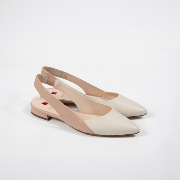 Ivory Nude Flache Sling Pumps Högl H9IED2W