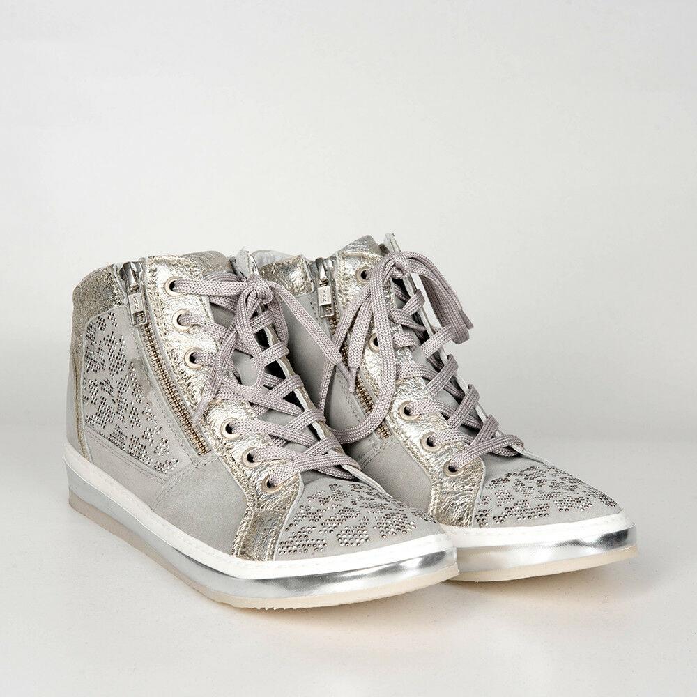 04dec1e8bebb9b Startseite   Shop   Unkategorisiert   KHRIO Sneaker Keilabsatz Leder grau